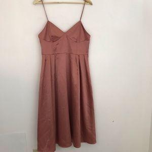 H&M NWT Satin Fit and Flare Midi Dress